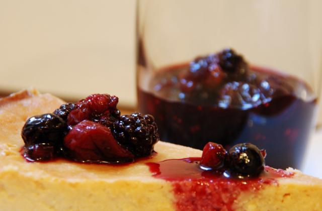 Cheesecake à la ricotta et aux fruits rouges - Photo par Papa Bosse et Maman Cuit