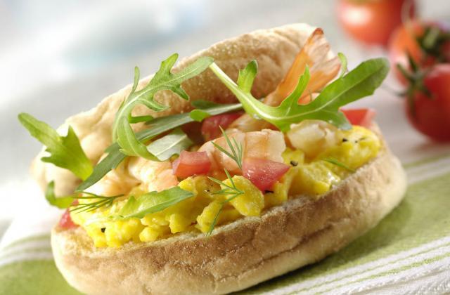 Sandwich aux crevettes - Photo par Amora