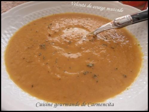 Velouté de courge muscade et marrons - Photo par Carmen