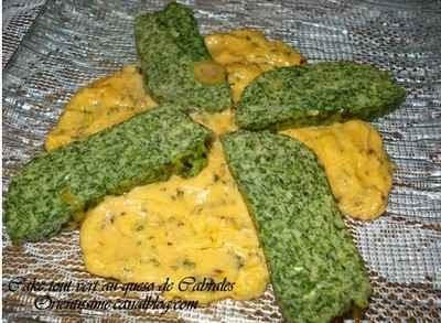 Cake tout vert au queso de Cabrales - Photo par orientO