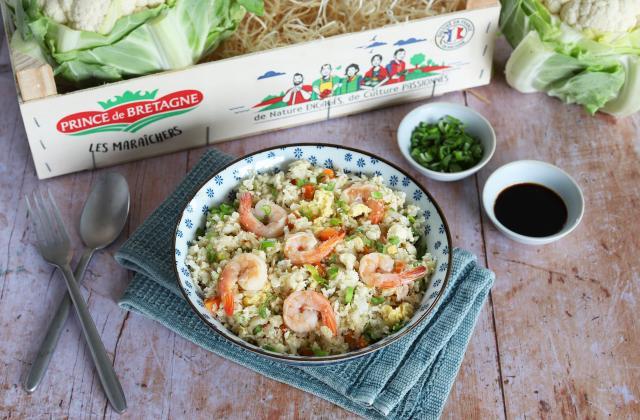 Riz de chou-fleur aux crevettes façon riz sauté - Photo par Silvia Santucci
