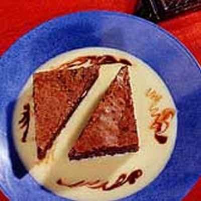 Le brownie crème anglaise - Photo par chtite7