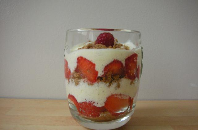 Tiramisu léger fraises spéculos - Photo par domaco20