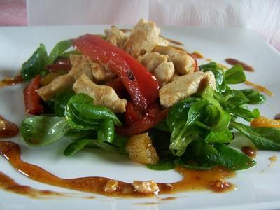 Salade thaï au poulet tiède - Photo par bboy41