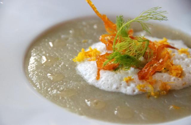 """Purée de fenouil, mousse d'oranges, huile d'argan - Photo par Dominique - """"Cuisine plurielle"""""""