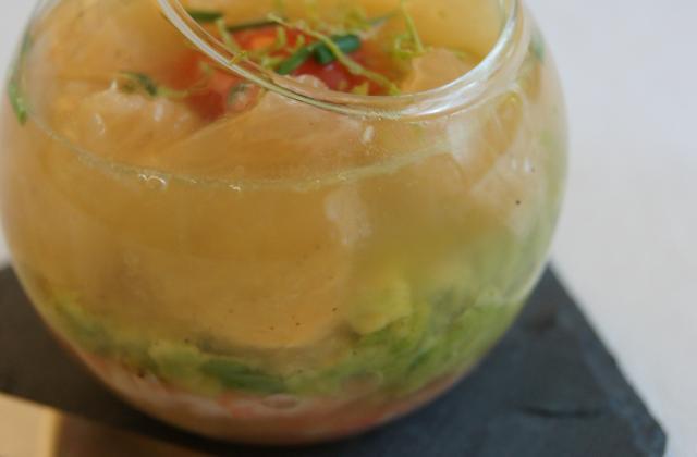 Gelée de crevettes acidulée - Photo par La cuisine de Sophie
