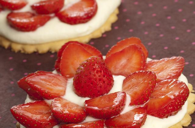 Tarte aux fraises et à la crème diplomate - Photo par lea64
