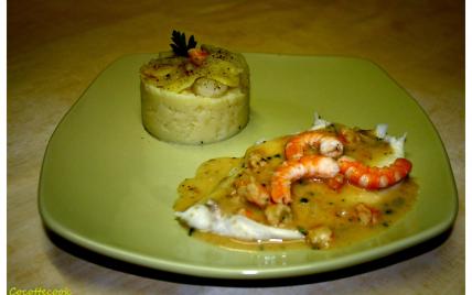 Filet de carrelet sauce crevettes - Photo par Manuela S.