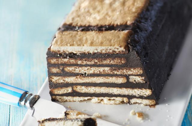 Gâteau au chocolat petits beurre/chocolat sans cuisson - Photo par perline67