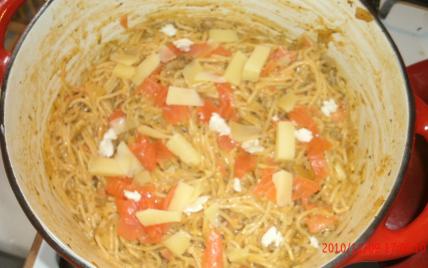 Spaghetti à la truite fumée - Photo par anonymW