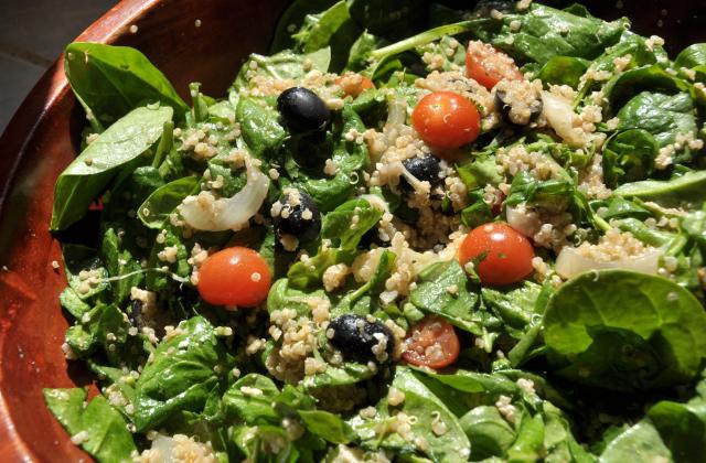 Salade de quinoa et épinards - Photo par bienvenu_chez_lorenza