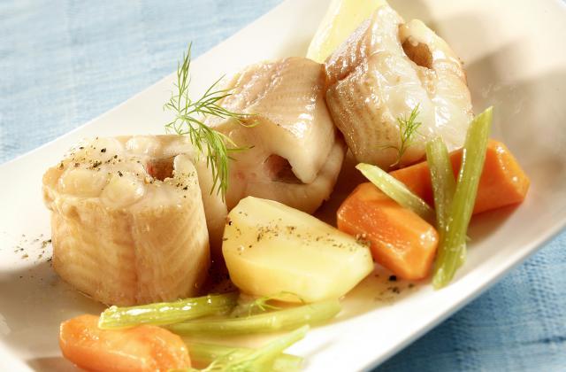 Saumonette et légumes au cidre - Photo par Pavillon France