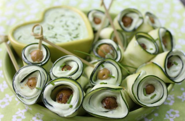 Roulés de courgettes au fromage de chèvre parfumé au persil - Photo par misyl4