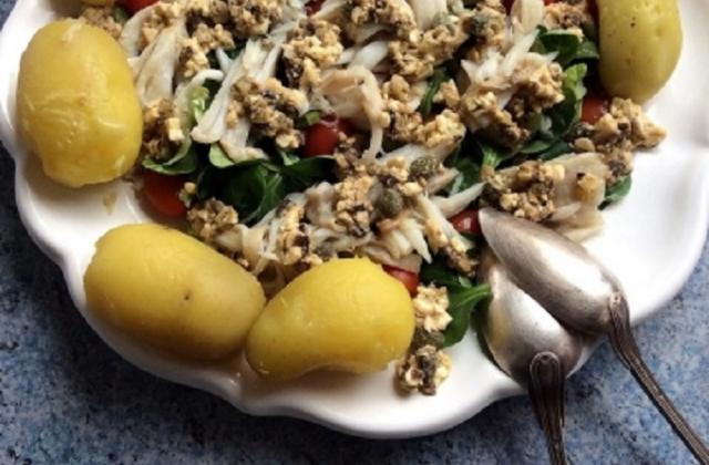 Ailes de raie en salade tiède - Photo par La petite cuisine de Sabine