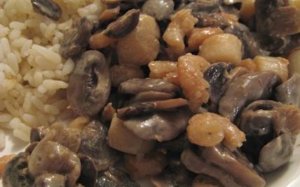Poêlée de pétoncles aux champignons - Photo par alliot0