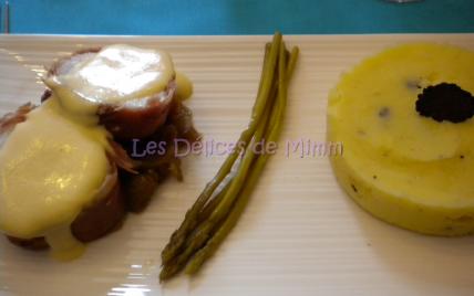 Lotte au jambon Ganda, sabayon au Chablis - Photo par mimm10