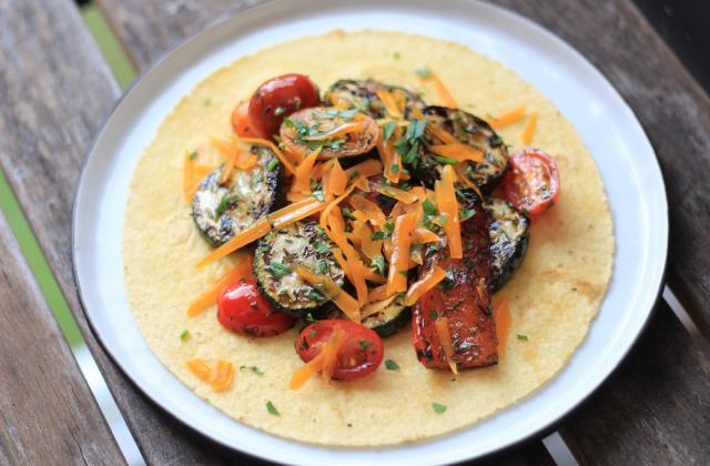 Faux Burritos de légumes grillés - Photo par 750g