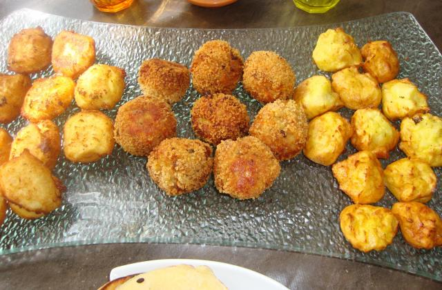 Boulettes de thon aux légumes et pommes noisettes - Photo par la cuisine de doudou