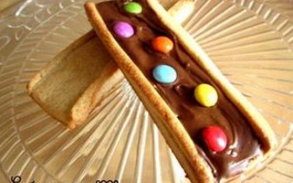 Biscuits aux bonbons de chocolat - Photo par Nadège_prunille