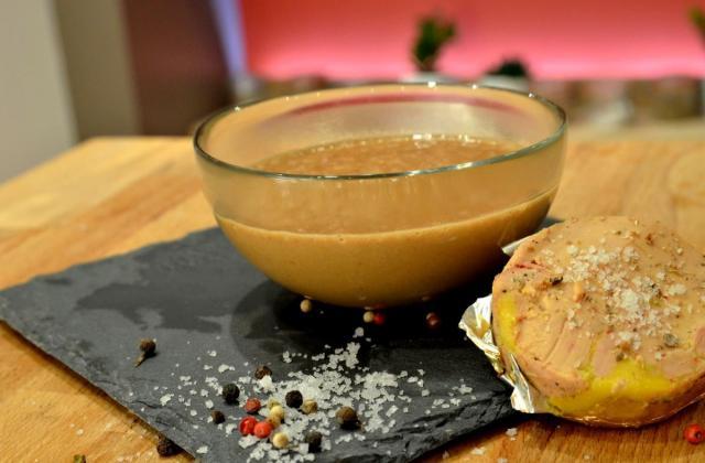 Sauce au foie gras - Photo par Chef Damien