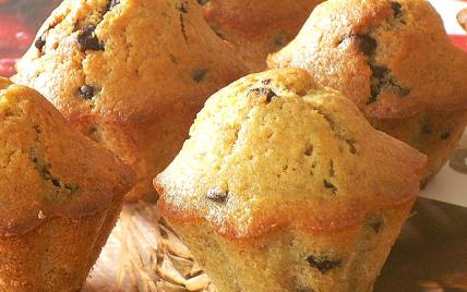 Muffins à la banane et au chocolat - Photo par La soupe à la citrouille