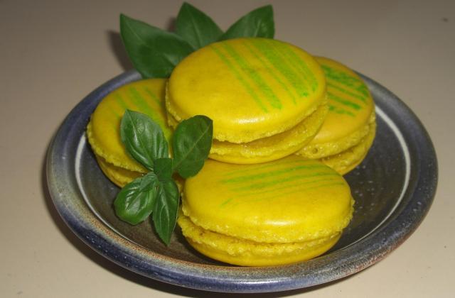 Macarons citron/basilic - Photo par lillouu