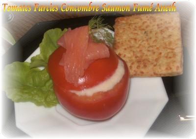 Tomates farcies concombre saumon fumé aneth - Photo par Alaro59