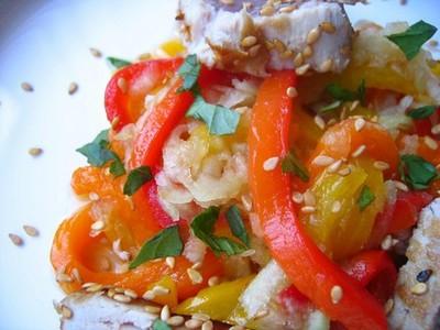 Salade de poivrons au thon - Photo par samiraoe