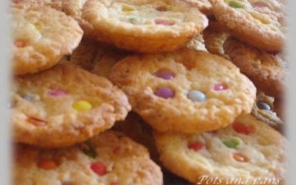 Cookies chocolat blanc aux Smarties - Photo par annecoK