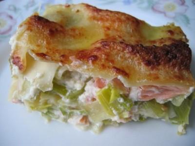 Lasagnes de saumon aux poireaux, sauce au mascarpone - Photo par christgOm