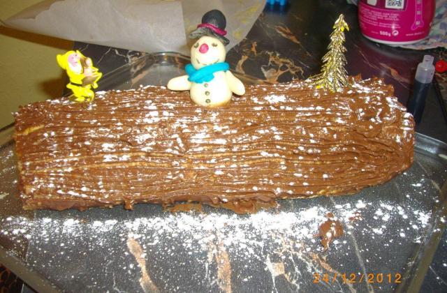 Bûche au chocolat et noisette - Photo par christqOU