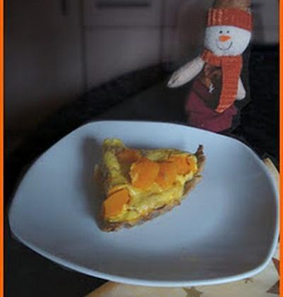 Quiche à la ricotta, potimarron et tofu épicé - Photo par kornce