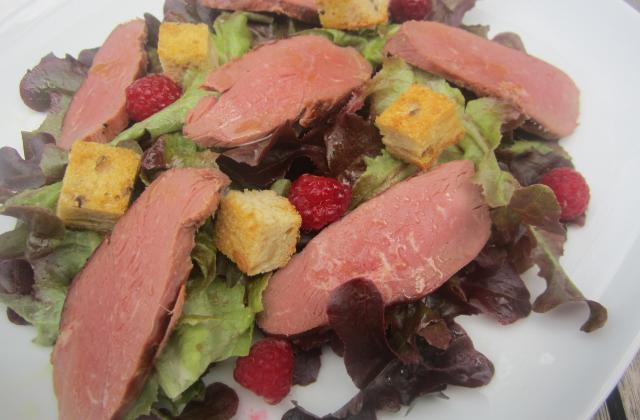 Salade d'été au magret et aux framboises - Photo par sophroch