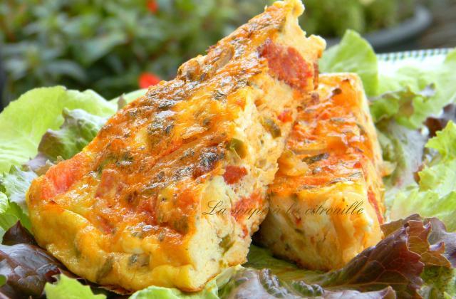 Tortilla à la grecque (omelette) - Photo par La soupe à la citrouille