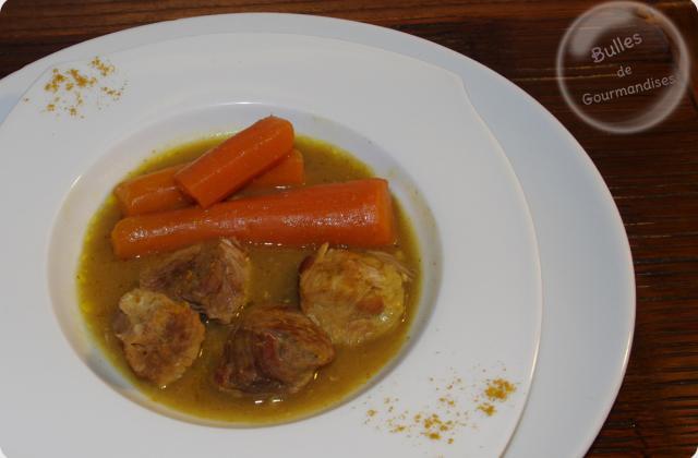 Sauté de porc au curry et carottes fondantes... et que ça saute ! - Photo par Bulles de Gourmandises