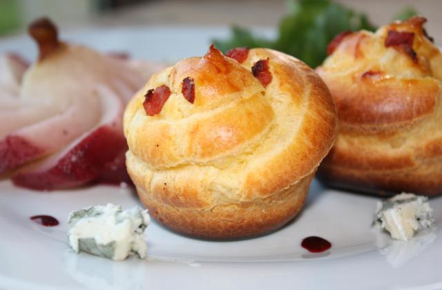 Chouquette crème de roquefort, pépites de lardons - Photo par annfleur