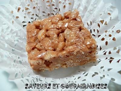 Rice Crispies au caramel salé - Photo par Nadji.