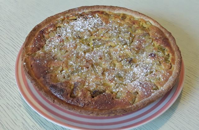 Tarte à la rhubarbe et aux pommes - Photo par Dany33