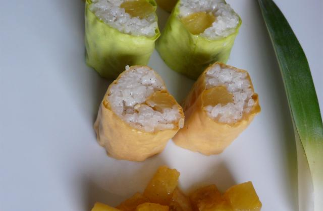 Makis à l'ananas et noix de coco - Photo par Linou