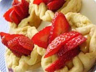 Tartelettes de manioc aux fraises - Photo par 750g