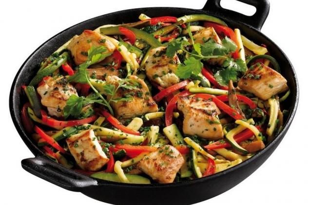 Wok de poulet et légumes du soleil - Photo par Florette