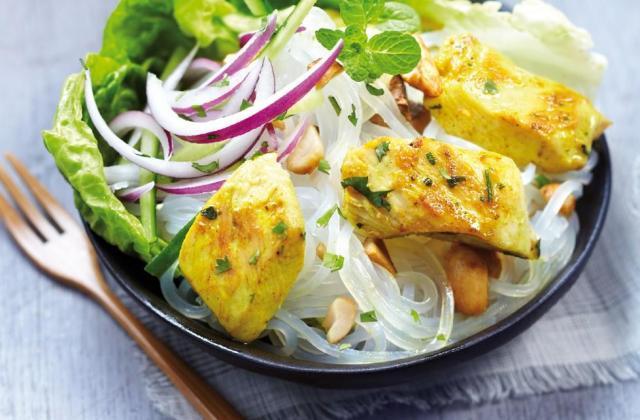 Salade de poulet façon thaï - Photo par Poulet Fermier Label Rouge