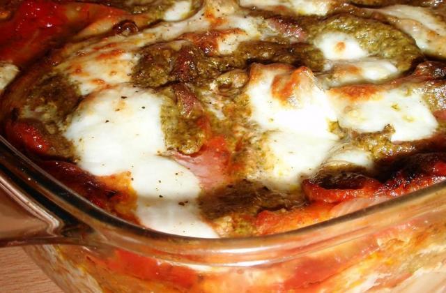 Lasagne tomate, jambon cru et pesto - Photo par La cuillère aux mille délices