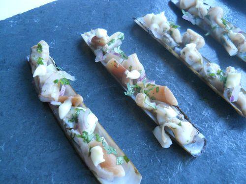 Couteaux sautés, mayonnaise au wasabi - Photo par mumuko