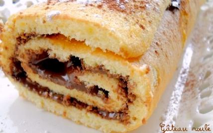 Gâteau roulé fourré à la pâte à tartiner - Photo par mathildee