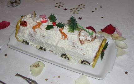 Bûche de Noël à la framboise - Photo par bamoua