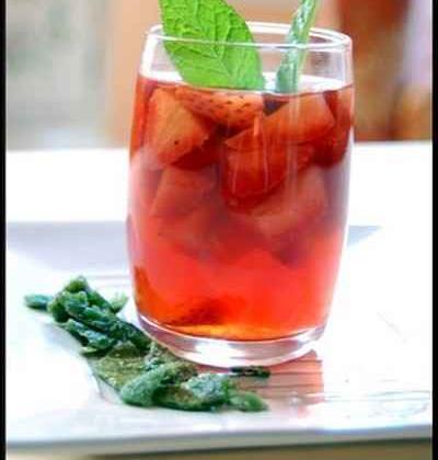 Gelée de fraises au thé à la menthe - Photo par cyrielu