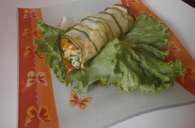 Cannellonis de courgettes aux petits légumes et ricotta - Photo par tosaga