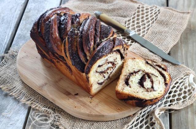 Krantz cake ou brioche torsadée au chocolat - Photo par Silvia Santucci