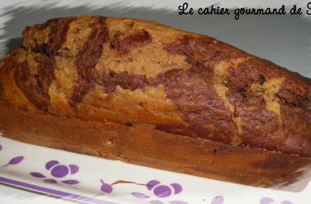Cake marbré au chocolat et à la châtaigne - Photo par Sophie21
